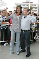 28/6/2010. The X Factor Judge Lois Walsh and Xpose presenter Glenda Gilson are  pictured arriving at the Dublin Convention center Spencer Dock. Picture James Horan/Collins.