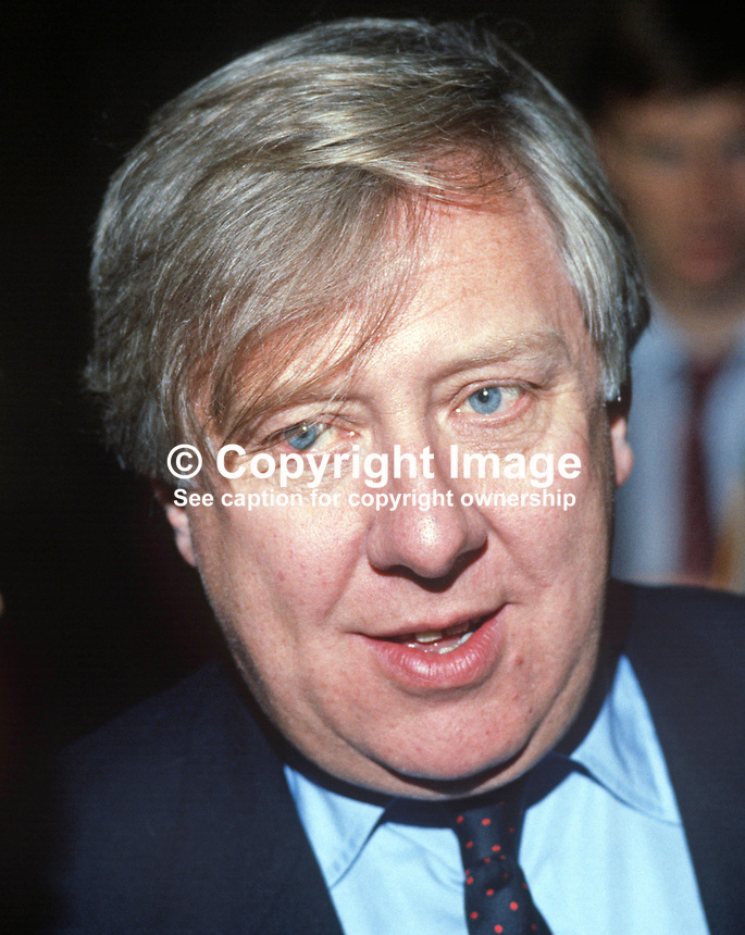 Roy Hattersley, MP, deputy leader, Labour Party, UK, annual conference, 19840122RH1.<br />