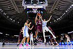 GREENVILLE, SC - MARCH 17: Stephan Bennett (15) and Zach Lofton (2) of Texas Southern University compete with Justin Jackson (44) of the University of North Carolina for a rebound during the 2017 NCAA Men's Basketball Tournament held at Bon Secours Wellness Arena on March 17, 2017 in Greenville, South Carolina. (Photo by Grant Halverson/NCAA Photos via Getty Images)