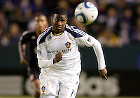LA Galaxy forward Edson Buddle moves towards the loose ball. The LA Galaxy defeated DC United 2-1at Home Depot Center stadium in Carson, California on Saturday September 18, 2010.
