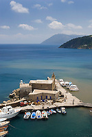 Lipari, Eolian Islands, Italy, June 2006. The old waterfront of Lipari Town. The Volcanic Eolian Islands of Southern Italy offer a spectacular landscape for trekking while staying in picturesque towns. Photo by Frits Meyst/Adventure4ever.com