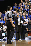 UK head coach John Calipari yelling after a foul was called during the first half of the men's basketball game vs. LSU at Rupp Arena on Saturday, January 26, 2013, in Lexington, Ky. Photo by Kalyn Bradford | Staff