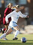 UNC's Lindsay Tarpley on Friday, November 25th, 2005 at Fetzer Field in Chapel Hill, North Carolina. The Florida State Seminoles defeated the University of North Carolina Tarheels 5-4 on penalty kicks after the teams tied 1-1 after overtime during their NCAA Women's Soccer Tournament quarterfinal game.