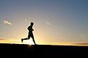 PE00261-00...WASHINGTON - Pierce Prohovost jogging in Edmonds. (MR# P9)