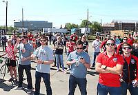 Washington, D.C. - Monday, April 24, 2016: Symbolic ground breaking ceremony for D.C. United's new stadium at Buzzards Point, Washington D.C.