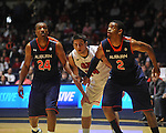"Ole Miss' Will Norman (24) vs. Auburn guard Brian Greene Jr. (24) and Auburn forward Allen Payne (2) at the C.M. ""Tad"" Smith Coliseum on Saturday, February 23, 2013. Mississippi won 88-55. (AP Photo/Oxford Eagle, Bruce Newman)"