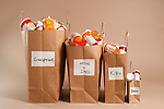 Prescription medicines in brown paper bags