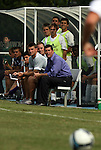 06 September 2009: Evansville head coach Mike Jacobs. The University of North Carolina Tar Heels defeated the Evansville University Purple Aces 4-0 at Fetzer Field in Chapel Hill, North Carolina in an NCAA Division I Men's college soccer game.
