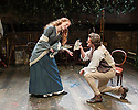 London, UK. 21.11.2013.  LIZZIE SIDDAL, a new play by Jeremy Green, opens at the Arcola Theatre. Picture shows: Emma West (Lizzie Siddal) and Tom Bateman (Dante Gabriel Rosetti). Photograph © Jane Hobson.