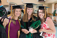 Louisa Salisbury, left, Danielle Scribner, Amanda Miller. Class of 2012 commencement.