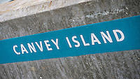 Canvey Island Sign, Essex, Britain - Jun 2014.