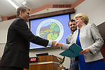 As one of the top three contenders in the Nov. 6 election for council from a pool of six candidates, Jeannie Bruins, above, is sworn onto the Los Altos council.