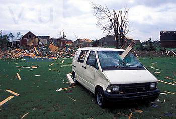 Tornado damage, Lousville, Kentucky, May 28, 1996.