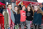 Emily Culhane, Ava Hanrahan, Róise McIntyre, Denise Carmody and Sarah Scanlon, pictured at the Coca Cola Truck in Listowel on Sunday last.