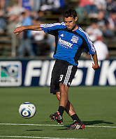 Chris Wondolowski of Earthquakes warms up before the game against Real Salt Lake at Buck Shaw Stadium in Santa Clara, California on March 27th, 2010.   Real Salt Lake defeated San Jose Earthquakes, 3-0.