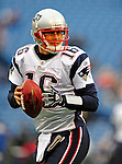 28 December 2008: New England Patriots' quarterback Matt Cassel warms up prior to facing the Buffalo Bills at Ralph Wilson Stadium in Orchard Park, NY. The Patriots kept their playoff hopes alive defeating the Bills 13-0 in their 16th win against Buffalo of their past 17 meetings. ***** Editorial Use Only ******..Mandatory Photo Credit: Ed Wolfstein Photo