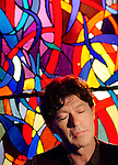 "Singer/songwriter Robbie Robertson, former member of ""The Band"" and now in the Rock 'n Roll Hall of Fame. At his recording studio, W. Los Angeles."