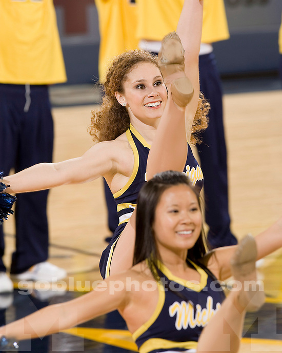 University of Michigan basketball vs. Illinois at Crisler Arena on 2/23/10.