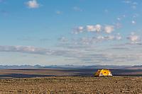 Tent camp on the top of Archimedes ridge, Utukok uplands, National Petroleum Reserve Alaska.