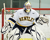Branden Komm (Bentley - 30) - The visiting American International College Yellow Jackets defeated the Bentley University Falcons 5-1 on Saturday, February 12, 2011, at John A. Ryan Skating Arena in Watertown, Massachusetts.
