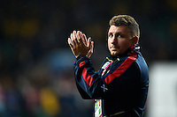 Duncan Weir of Scotland acknowledges the crowd after the match. Rugby World Cup Quarter Final between Australia and Scotland on October 18, 2015 at Twickenham Stadium in London, England. Photo by: Patrick Khachfe / Onside Images