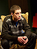 Donkey Heart <br /> by Moses Raine <br /> directed by Nina Raine at the Trafalgar Studios, London, Great Britain <br /> Press photocall<br /> 8th January 2015 <br /> <br /> <br /> <br /> James Musgrave as Petya <br /> <br /> <br /> Photograph by Elliott Franks <br /> Image licensed to Elliott Franks Photography Services