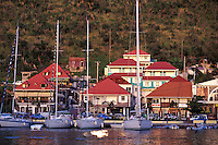 Sailboats at Harbor, Gustavia, St. Barth, Caribbean