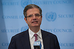 President of the Security Council Briefs Press on Security Council Consultations<br /> Fran&ccedil;ois Delattre, Permanent Representative of France to the UN and President of the Security Council for the month of March, speaks to the press following Security Council consultations on the situation in Sudan and South Sudan.