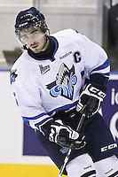 QMJHL (LHJMQ) hockey profile photo on Rimouski Oceanic Casey Babineau October 6, 2012 at the Colisee Pepsi in Quebec city.