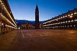 St Marks square, at dawn, Venice, Italy.