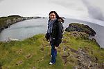 Allison on Carickarede Island in Ballintoy, County Antrim, Northern Ireland on Saturday, June 22nd 2013. (Photo by Brian Garfinkel)