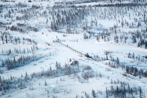 A gas condensate pipeline runs through the sub-Arctic permafrost in Russia's Yamal region. <br /> <br /> The economic fortune of Russia is largely dependent on the sale of its oil and gas. <br /> <br /> Recent international economic sanctions and fall in energy prices have hurt the Russian economy, sending its currency on a steep descent.