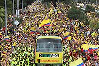 Recibimiento selección Colombia / Welcome to Colombian Soccer Team. Bogotá, 06-07-2014