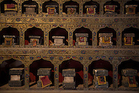 Morocco - Ouarzazate - Located within the Atlas Corporation Studio, this Tibetan temple was used during the shooting of Martin Scorsese's Kundun, a 1997 movie recounting the life of the 14th Dalai Lama. The temple, which is built in plaster, wood and storyfoam, took four months to be built and served for the shooting of 15 minutes of the movie.