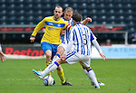 Kilmarnock v St Johnstone....03.03.12   SPL.Dave Mackay battles with Garry Hay.Picture by Graeme Hart..Copyright Perthshire Picture Agency.Tel: 01738 623350  Mobile: 07990 594431