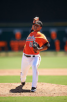 Baltimore Orioles pitcher Matt De la Rosa (53) during an Instructional League game against the Boston Red Sox on September 22, 2016 at the Ed Smith Stadium in Sarasota, Florida.  (Mike Janes/Four Seam Images)