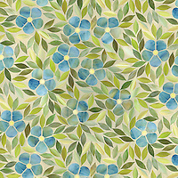 Jacqueline, a jewel glass waterjet mosaic shown in Emerald, Alexandrite, Citrine, Peridot, is part of the Silk Road Collection by Sara Baldwin for New Ravenna Mosaics.