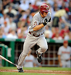 10 July 2008: Arizona Diamondbacks' shortstop Stephen Drew in action during a game against the Washington Nationals at Nationals Park in Washington, DC. The Diamondbacks defeated the Nationals 7-5 in 11 innings to take the rubber match of their 3-game series in the Nation's Capitol...Mandatory Photo Credit: Ed Wolfstein Photo