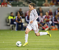 CARSON, CA - May 19, 2012: Real Salt Lake midfielder Ned Grabavoy (20) during the Chivas USA vs Real Salt Lake match at the Home Depot Center in Carson, California. Final score, Chivas USA 1, Real Salt Lake 4.