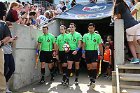 Cary, North Carolina  - Sunday May 21, 2017: Jeremy Weed, John Collins, Rosendo Mendoza, and Francisco Bermudez prior to a regular season National Women's Soccer League (NWSL) match between the North Carolina Courage and the Chicago Red Stars at Sahlen's Stadium at WakeMed Soccer Park. Chicago won the game 3-1.