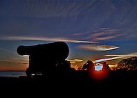 sunset in kalmar, sweden