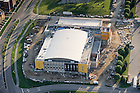 May 16, 2011; Aerial view of construction work on the Compton Family Center...Photo by Matt Cashore/University of Notre Dame