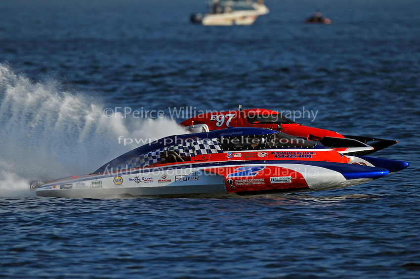 "Richard Haineault, CE-2 and Todd Liddycoat, E-97 ""Team Extreme"" (5 Litre class hydroplane(s)"