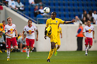 Columbus Crew midfielder Tony Tchani (6). The New York Red Bulls and the Columbus Crew played to a 2-2 tie during a Major League Soccer (MLS) match at Red Bull Arena in Harrison, NJ, on May 26, 2013.