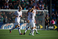 Pasadena, CA - June 25, 2011: Landon Donovan celebrates his goal  vs Mexico in the 2011 CONCACAF Gold Cup Championships, at the Rose Bowl. Mexico won 4-2.