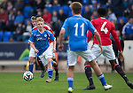 St Johnstone Academy v Manchester Utd Academy&hellip;.06.05.16  McDiarmid Park, Perth<br />Kyle Green breaks forward<br />Picture by Graeme Hart.<br />Copyright Perthshire Picture Agency<br />Tel: 01738 623350  Mobile: 07990 594431