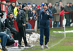 Brechin v St Johnstone....12.03.11  Scottish Cup Quarter Final.Derek McInnes appeals for hand ball.Picture by Graeme Hart..Copyright Perthshire Picture Agency.Tel: 01738 623350  Mobile: 07990 594431