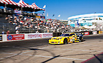 LONG BEACH, CA - APR 15: American Le Mans Drivers Oliver Beretta/Tommy Milner of the Corvette Raging Team drive car#3 during practice run. Photo by Eduardo E. Silva