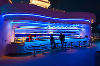 The &quot;Currents&quot; bar aboard the new Disney cruise ship &quot;Disney Dream&quot; sailing between Florida and the Bahamas.