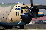 Spanish Lockheed C 130 Hercules in Torrejon airport